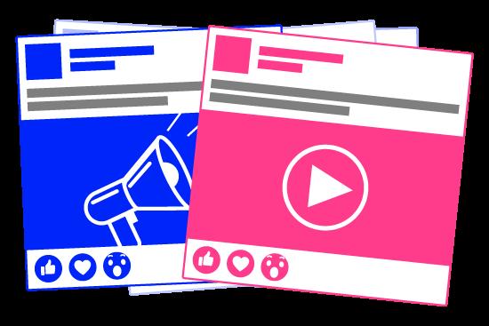 Facebookpost och ett videoinlägg