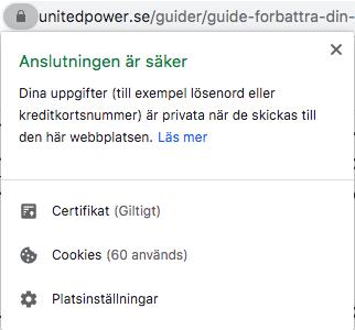 SSL-certifikat för säker hemsida - Unitedpower